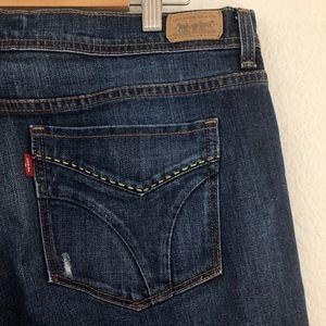 Levi's Jeans - [Levi's] Dark Wash 505 Straight Leg Jeans